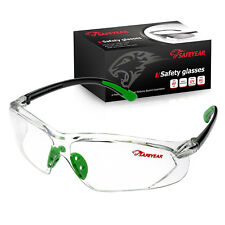 Safeyear Safety Glasses Temple Tips Soft TPR Lens Clear Goggles Frame Z87+