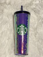 Starbucks Dark Sequins Holiday 2020 Cold Cup Tumbler