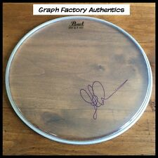 "GFA Dream Theater * JOHN PETRUCCI * Signed 14"" Drumhead AD1 COA"