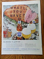 1953 Pabst Blue Ribbon Beer Ad What'll You Have? 1953 Hanes Sleepwear Ad