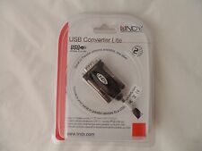 LINDY USB to Serial Adapter 42855 9 Way RS-232 1.5m Blister Packed J5 E