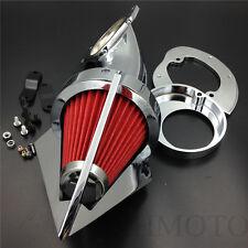Cone Spike Air Cleaner Kit fit Yamaha Vstar V-Star 650 all year 1986-2012 CHROME