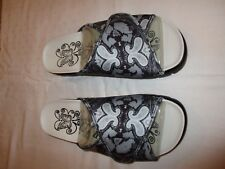 Alegria Airie AIR-837 sandals sz 39 canvas black white gray NWOB New paisley