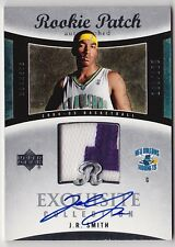 2004-05 Exquisite J.R. SMITH Auto 2 Color Patch RC Rookie Card #d 225