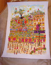 "Susan Pear Meisel Moulin Rouge lithograph, signed and numbered , 34.5""x24.5"
