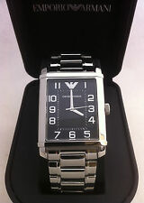EMPORIO ARMANI  BRACELET WATCH BLACK RECTANGULAR DIAL AR0492