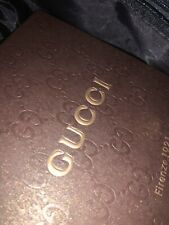 Gucci Men's Leather Belt Black On Black with Gucci Logo Throughout -  Authentic