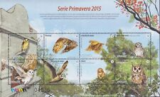 Uruguay 2015 Fauna, Birds, Owls MNH**