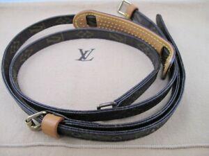 100% Authentic Louis Vuitton Monogram Canvas Adjustable Shoulder Purse Bag Strap