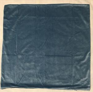"""Velvet Soft Pillow Cover 24"""" x 24"""" Blue, NEW"""