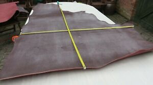 """BROWN EMBOSSED EX MILITARY LEATHER HIDE 3mm THICK 57"""" X 45"""" OLD STOCK  CLEARANCE"""