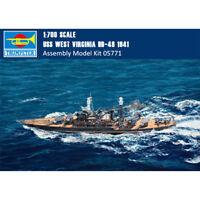 Trumpeter 05771 1/700 USS West Virginia BB-48 1941 Model/Wooden Deck can choose