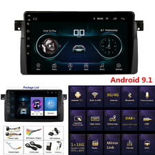 For BMW E46 Sedan Touring Coupe 9'' Android 9.1 Car Stereo Radio GPS MP5 Player