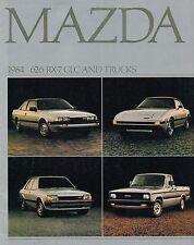 1984 MAZDA Brochure / Catalog: RX-7,626,GLC,B2000 PickUp Truck