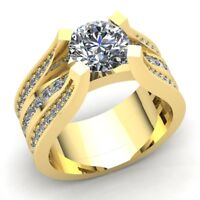 Genuine 1ct Round Cut Diamond Ladies Solitaire Proposal Engagement Ring 10K Gold