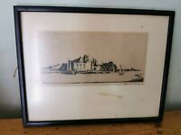Vtg Etching / Plate II Framed Print of 'On The Waveney' From Artist  Proof