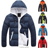 Fashion Men Boy Winter Warm Hooded Thick Padded Jacket Zipper Slim Outwear Coat