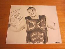 D'Lo Brown Autographed/Signed 8X10 Photograph/Artwork Wrestling WWF WWE TNA