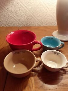4 Pottery Measuring Cups
