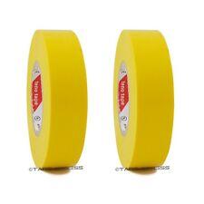 2 Roll Yellow Vinyl Pvc Electrical Tape 34 X 66 Flame Retardant Free Shipping