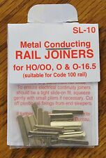 HO Scale - PECO Metal Conducting SL-10 Rail Joiners for Code 100 Rail