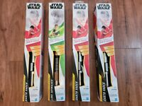 STAR WARS Darth Vader Electronic Red, Luke Skywalker Green.(Lot Of 4)(Brand New)