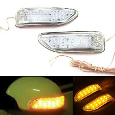 13 LED Rear Mirror Turn Signal Flexible Waterproof Indicators Yellow Light 2 Pcs