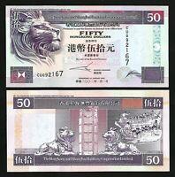 HONG KONG SHANGHAI BANK , 50 DOLLARS 2002 , UNC , P-202