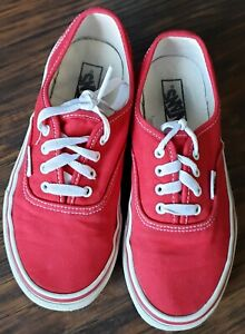 Red VANS Shoes Youth Kids Size 3 Tennis Shoes Girls
