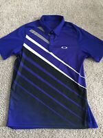 Oakley Mens Hydrolix Purple White and Black Short Sleeve Polo Regular Fit Size L