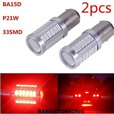 2X Red BA15D P21W 1157 33SMD 5630 12V LED Car Reverse Backup Lamp Bulb HP