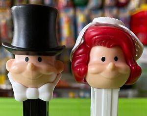 PEZ Spender BRAUT & BRÄUTIGAM Dispenser Bride & Groom aus der Vitrine