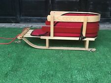 LL Bean Wooden with Cushion Child/Infant Pull Sled Toboggan Photo Prop or Use