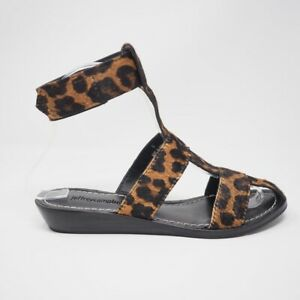 Jeffrey Campbell Niram Ankle Strap Sandals Cheetah 6