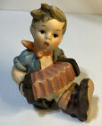 "Hummel Goebel Boy Sitting Playing the Accordion 3"" Figurine TMK-6 W.Germany MINT"