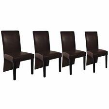 4er SET Esszimmerstühle Küchenstühle Polsterstuhl Wohnzimmer Stuhl Dunkelbraun