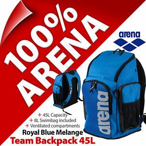 Arena Team Backpack 45l School Bag Rucksack Swimming Swim Training Gym