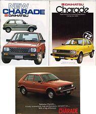 Three 1983-86 DAIHATSU 2nd GEN CHARADE New Zealand Brochures G11