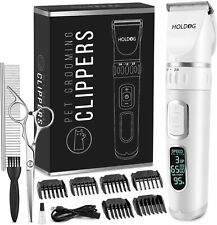 Professional Heavy Duty Dog Grooming Clipper 3-Speed Low Noise High Power Rechar