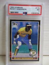 1985 Donruss Rickey Henderson PSA NM 7 Baseball Card #176 MLB HOF
