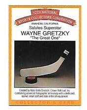 WAYNE GRETZKY   RARE 1991 ANAHEIM CONVENTION  HOLOGRAM CARD #2 FREE COMBINED S/H