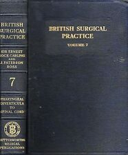 SIR ERNEST ROCK CARLING BRITISH SURGICAL PRACTICE VOL.7 FIRST EDITION HB 1950
