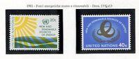19162) UNITED NATIONS (New York) 1981 MNH** Renewable energy