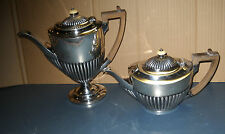 ANTIQUE SET ENGLISH SILVER PLATE BENETFINK & CO CHEAPSIDE TEA & COFFEE POTS 2656
