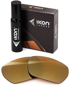 Polarized IKON Replacement Lenses For SPY Blok Sunglasses 24K Gold Mirror