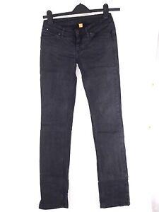 up jeans pantalone jeans donna nero made italy dritto taglia s / m small medium