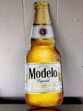 Modelo Especial Tin Tacker Sign 8x22 Mancave, Home Bar Cerveza