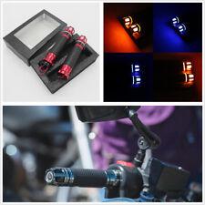 1 Pair Motorcycle Steering Light Handlebar Grip Yellow LED Turn Sinal Anti-slip