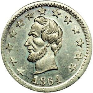 1864 Abraham Lincoln Patriotic Civil War Token PCGS MS64