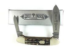 H Boker & Co Canoe Knife Appaloosa BONE Tree Brand GERMANY + Box 2391-RP